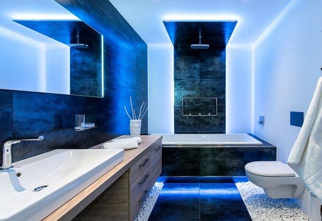 LED-verlichting in de badkamer