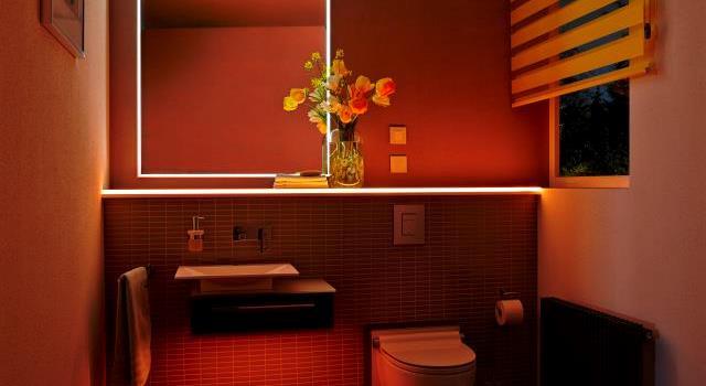 Licht in de badkamer